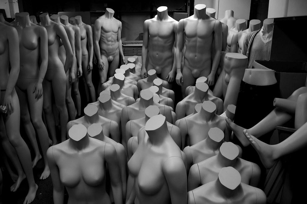 Threatening mannequins