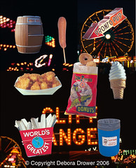 State Fair Shadow Box V2 (Debora Drower) Tags: ice cheese garbage state cream mini fair fries donuts worlds corndog greatest pup midway pronto fried curds rootbeer