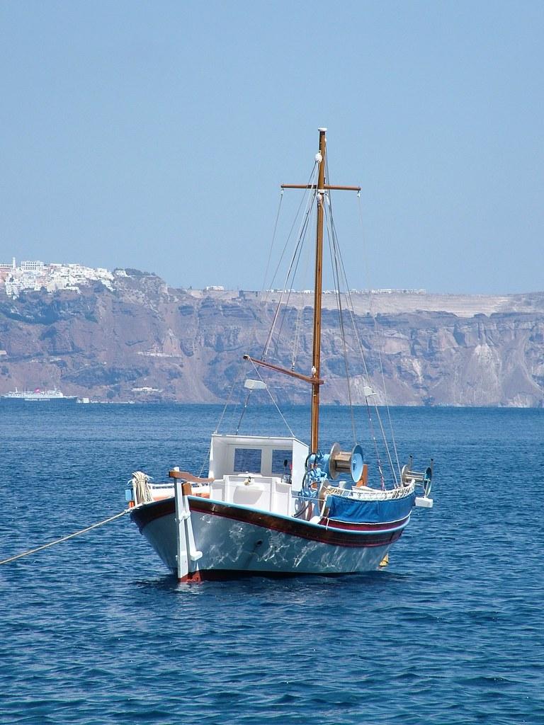 Thirasia harbour, Santorini, Greece