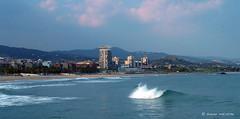 OLA MATAR (Quico Melero) Tags: beach azul spain agua playa catalonia catalunya matar ona aigua catalua ola mediterrneo 100club platja mediterrani eligetucolor
