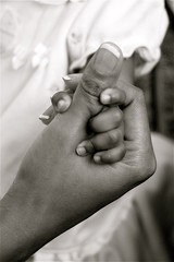 Hold My Hand (Jessica New) Tags: blackandwhite bw love holding hands child hand mother hold