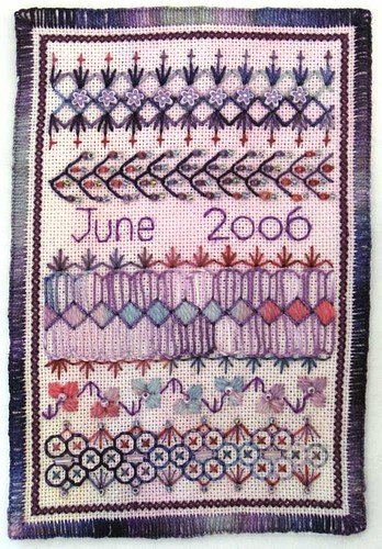 Fabric postcard june