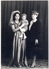 """Eredina, Consuelo, and Toni 1948 ((Concepts by) Nicholas Daniel """"@tak"""" Lopez) Tags: california old family mexico grandmother photos pics sister brother uncle father great grandfather mother historic aunt scanned historical cousin relatives greatgrandmother"""