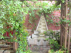 LBC courtyard garden fountain