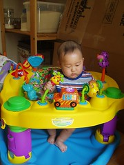 Playing in my exersaucer