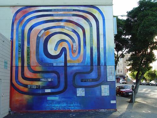 Labyrinth Habitat mural by Johanna Poehig;