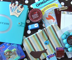 July Coloriffic Swap : sending (make_out goods) Tags: handmade july swap sent snailmail brownandblue colorifficswaporama colorifficswap julyswaporama
