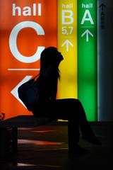Look Up (mrhayata) Tags: shadow woman girl silhouette japan lady backlight bench bag geotagged tokyo blog forum international 日本 abc 東京 hibiya 東京国際フォーラム yurakucho chiyoda 少女 シルエット 千代田区 東京都 女性 有楽町 geo:lat=356762078 geo:lon=1397636556 mrhayata