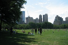 NYC - Central Park: Sheep Meadow (wallyg) Tags: park nyc newyorkcity ny newyork grass skyline skyscraper nhl centralpark manhattan lawn meadow landmark gothamist sheepmeadow nationalhistoriclandmark nationalregisterofhistoricplaces usnationalhistoriclandmark nrhp usnationalregisterofhistoricplaces newyorkcitylandmarkspreservationcommission nyclpc sceniclandmark