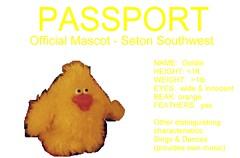 Passport (SSWGoldie) Tags: travel vacation chicken yellow toy mascot adventure passport chickendance thebiggestgroup goldiechick