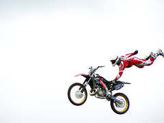 One Handed (Neil101) Tags: park bike manchester crazy amazing interesting dangerous jump cross air wheels bikes neil motorbike most cycle moto motorcycle motor motorbikes jumps stunt stunts motorcross heaton wilkinson wheely weelie neilwilkinson neil101 bbcmanchesterblog