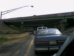 at present..... (ShimmeeGrrl) Tags: cameraphone pittsburgh traffic accident exit sucky carcam 79 jeepers 279 backedup notmakingittowork