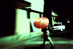 Umbrella Lensbaby (candersonclick) Tags: sanfrancisco california summer colors lensbaby crossprocessed nikon july dreaming bayarea xprocessed lensbabies