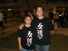 Sam and Me in the Austin Airport . . . We love Taiwan!