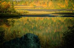 reflections (elfis gallery) Tags: autumn mountain lake mountains nature water trekking walking landscape landscapes sweden outdoor lappland lakes lapland scandinavia polarcircle lappi sami waterscape todolist northcountry northof60 kungsleden bilderfantasien lapinruska northofpolarcircle