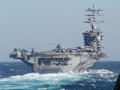 USS Nimitz (CVN 68) - Underway in the Persian Gulf - 30 April 2003 (goatlockerguns) Tags: unitedstates navy middleeast nuclear aircraftcarrier usn uss carrier underway persiangulf nimitz ussnimitz iraqifreedom cvn68 navyships operationiraqifreedom cvn