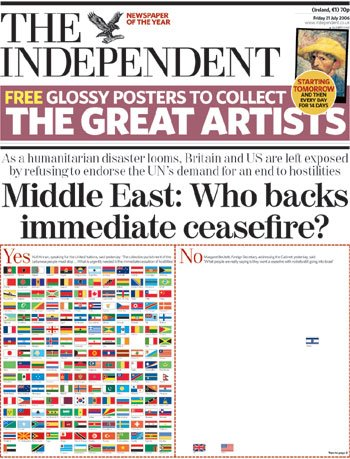 Cover of the Independent, July 21, 2006