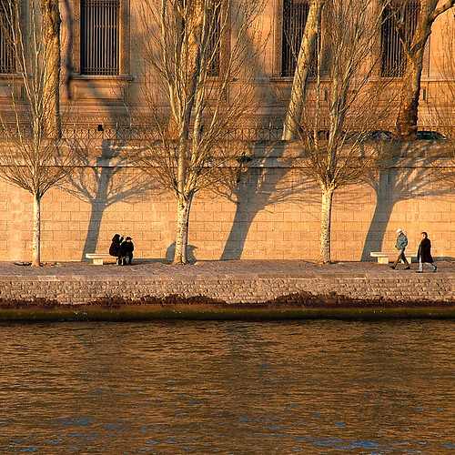 Winter Afternoon along the Quais, Paris by Rita Crane Photography.