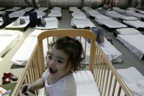 baby refugee Lebanon 2006 AP photo