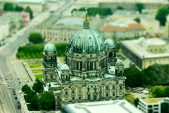 "Berliner Dom : as seen from the ""TV Tower"" (RottieLover) Tags: building berlin church architecture buildings germany miniature nikon europe cathedral fake d200 berlinerdom tiltshift 18200mm mapberlin 18200mmf3556gvr 123travel tiltshift12 fromtvtower"
