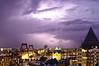 Lightning Rotterdam 1 Aug. 2006 (PW74) Tags: white house storm netherlands rotterdam long exposure lightning huis willemsbrug witte pw onweer bliksem potlood pw74