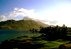 Hello Hawaii (Ana Bel) Tags: ocean sky usa green grass court golf hawaii lawn kauai lush