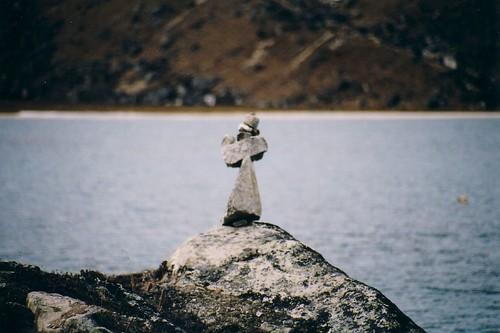 Stone Bishop Praying to the Buddhist Lake Goddess