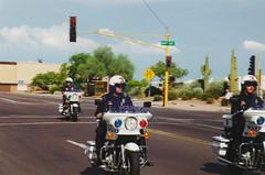 Police Motorbike (Devin Ford) Tags: arizona cactus phoenix cops desert clinton president police motorcycle saguaro