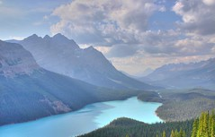 Peyto Lake HDR 16-08-2004 (aberdidi) Tags: travel blue favorite lake canada color green slr topf25 beautiful topv111 digital canon wow rockies rebel nationalpark cool nice 500v20f quebec montreal turquoise pastel quality awesome north favorites vivid best smiley banff fav lovely favs hdr f25 favorited peyto pocker helluva ouest thecontinuum 72points a a1f1 abigfave p1f1 generouscomments ci33 aberdidi aplusphoto hspoker