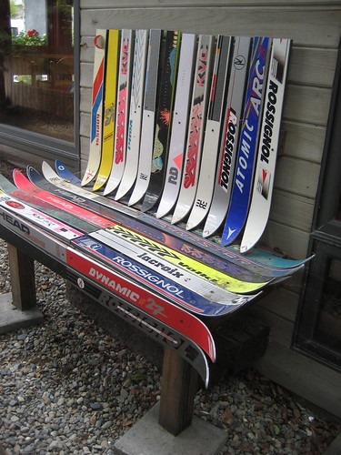 Hopeless Repurposing of Old Skis, Part II by Telstar Logistics.