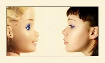 Barbie face compare