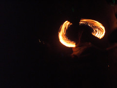 Fire Twirler @ Koh Pha Ngan, Thailand (timparkinson) Tags: party beach thailand fire kophangan fullmoonparty firetwirling gybo fordl