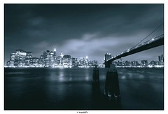 (Arnold Pouteau's) Tags: nyc newyorkcity longexposure newyork night manhattan dumbo brooklynbridge 30seconds spot2 abigfave
