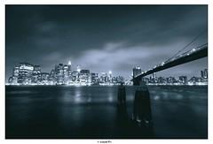 (Arnold Pouteau's) Tags: nyc newyorkcity longexposure newyork night manhattan dumbo brooklynbridge 30seconds spot2 abigfave