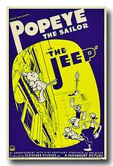 The Jeep (geozilla) Tags: art classic comics movie poster jeep sweet cartoon olive sailor pea geo popeye omni paramount  oyl  sweepea geozilla  omnimonster