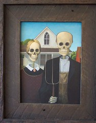 """Done to Death"" (Terry.Tyson) Tags: art painting dayofthedead 2006 skeletons americangothic grantwood lasposas barryrockwell"