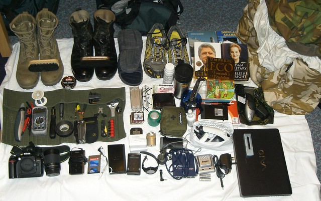 camera travel afghanistan lens army switch flask iron boots laptop military sony watch nintendo talk books mp3 trainers equipment camouflage mug asics british linksys kit whatsinyourbag nintendods vaio soldering charger clippers toolkit folding deployment solder bergan solderingiron operational firstaidkit bootbrush mp3palyer