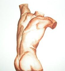 torso (welpim) Tags: gay man sexy male art painting nude body hunk watercolour