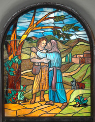 Dubuque Church Stained Glass (Atelier Teee) Tags: art church window glass stainedglass iowa dubuque glassart tacomaartmuseum atelierteee terencefaircloth