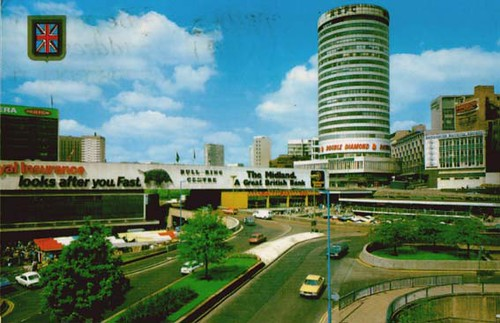'the bull ring centre and rotunda, birmingham'