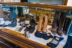 Original 19th and Early 20th Century Shoes (Serendigity) Tags: lincoln wildwest interior historic museum newmexico store unitedstates usa town shoes