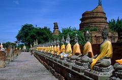Ayutthaya (hkkbs) Tags: history thailand temple buddha buddhism thai 100views historical 400views 300views 200views 500views nikkor province 800views 600views 700views tempel 1000views ayutthaya july1999 nikonfg20 nikoncoolscanls30 900views 50mmf18ais 5photosaday buddhastatues