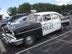 1957 Chevy Bel Air (splattergraphics) Tags: belair chevy policecar 1957 recreation carshow hanoverpa chickenshow stdavidslutheranchurch howardcountypolice