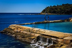 Baths - Cabbage Tree Bay (Rocket_Man_81) Tags: ocean sky color colour beach water swim canon landscape photography manly sydney australia baths newsouthwales oceanbaths bradspicsnet bradspicshome1