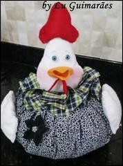 20150817_164956 (Artesanato com amor by Lu Guimaraes) Tags: galinha artesanato porta fuxico decoração peso tecido enfeitecozinha