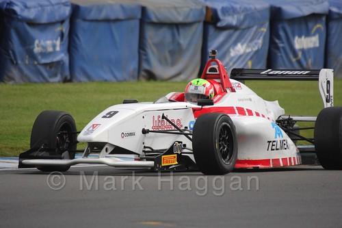 Lanan Racing's Rodrigo Fonseca in BRDC F4 at Donington Park, September 2015