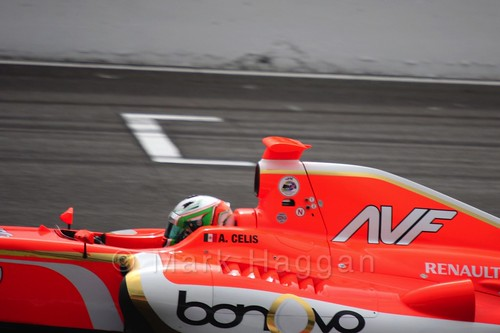 Alfonso Celis Jr in the Formula Renault 3.5 Saturday Race at Silverstone