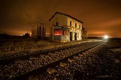 Waiting for the last train...X. (darklogan1) Tags: longexposure nightphotography station clouds train valladolid logan castilla lighpaint darklogan1