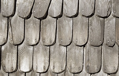 wooden shingles on the roof (tschanzhofmann) Tags: wood grey pattern shingles structure rows material roofing buildingmaterial regularly roofshingles lightgrey historically woodenshingles verschindelt