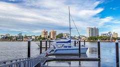 Brisbane River boating life (Photos by Lance) Tags: travel water boats outdoor jetty transport australia vessel brisbane tourist wharf queensland brisbaneriver yatchs